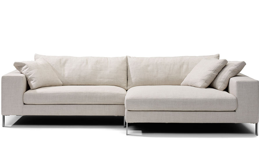 Plaza small sectional sofa Small white loveseat