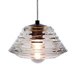pressed glass bowl pendant light  -