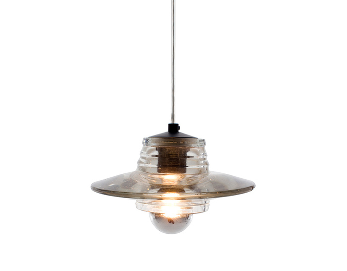 pressed glass lens pendant light