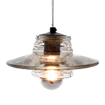 pressed glass lens pendant light  -