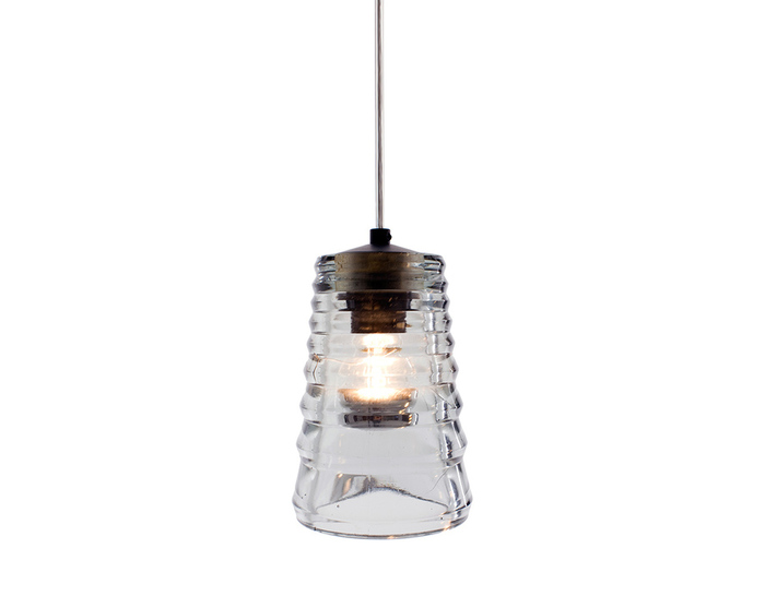pressed glass tube pendant light