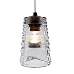 pressed glass tube pendant light  -