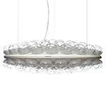 prop light round double suspension lamp  -