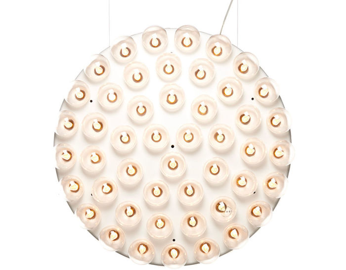 prop light round double vertical suspension lamp