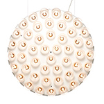 prop light round double vertical suspension lamp  -