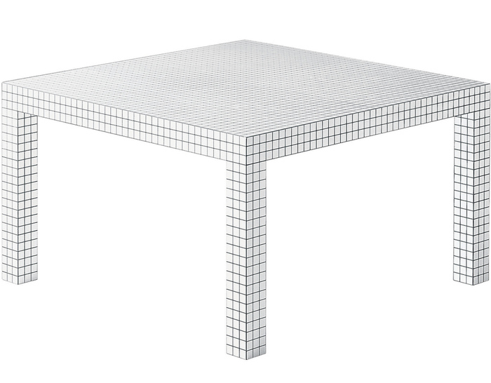 Quaderna 2600 table for Super estudio