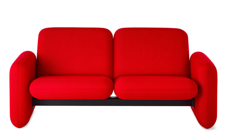 ray wilkes two seat chiclet sofa
