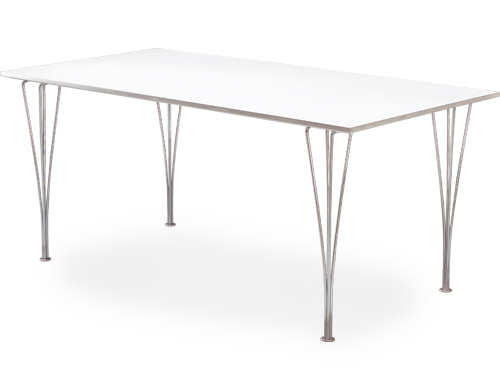 Fritz Hansen Rectangular Span Leg Table 63 on synthetic wood outdoor furniture