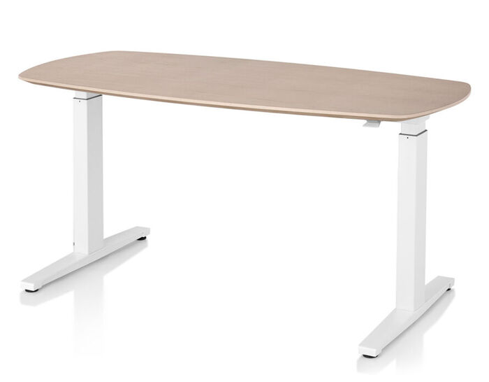 renew sit-to-stand oval t-foot table
