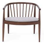 reprise chair with upholstered seat  -