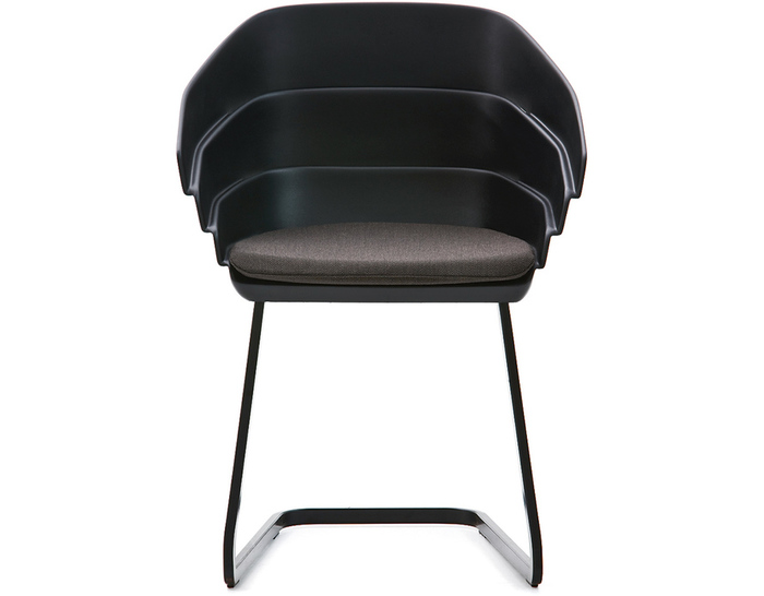 Exceptionnel Rift Cantiliever Chair With Seat Cushion