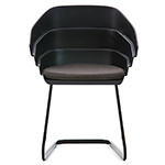 rift cantiliever chair with seat cushion