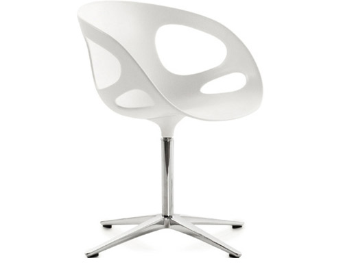 rin swivel chair with no upholstery