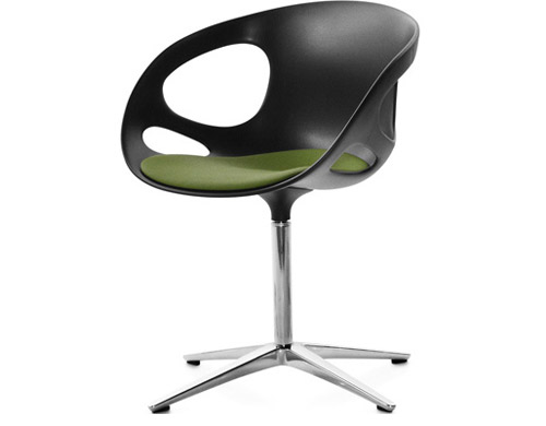 rin swivel chair with upholstered seat