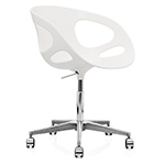 rin swivel task chair with no upholstery
