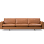 risom 65 three seat sofa with metal base  -