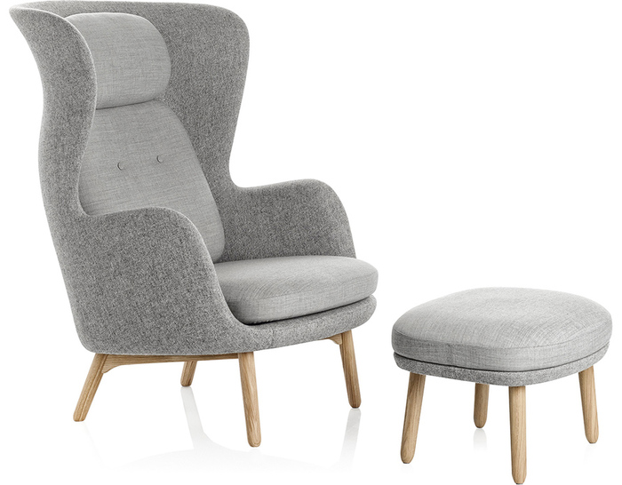 Ro Lounge Chair And Ottoman Hivemodern Com