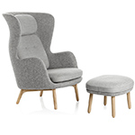 ro lounge chair and ottoman  -