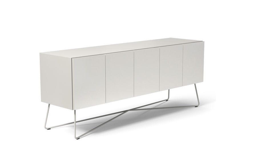 rockwell unscripted 60 inch 5 door credenza