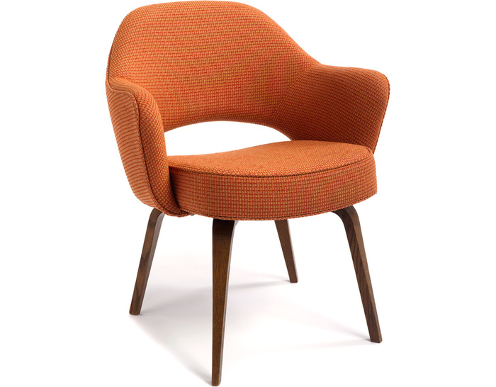 saarinen executive arm chair with wood legs - hivemodern