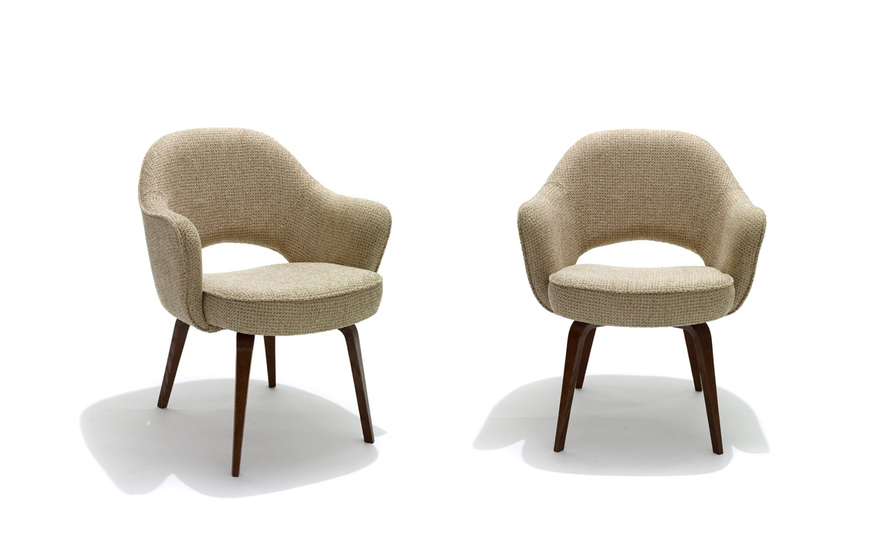 Modern armless chair - Saarinen Executive Arm Chair With Wood Legs Hivemodern Com