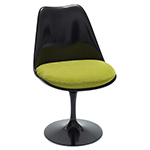 saarinen black tulip side chair  -