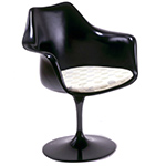 saarinen black tulip arm chair  -