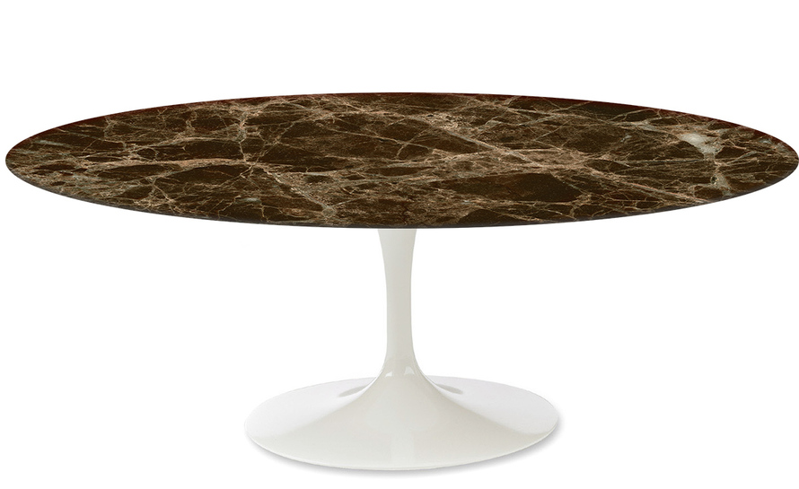 saarinen coffee table emperador dark marble