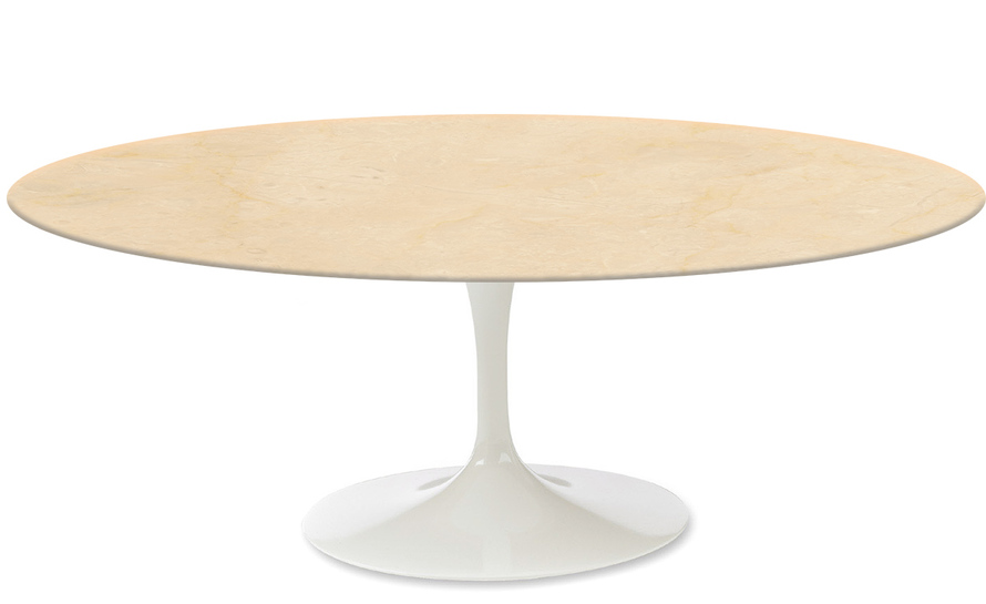 Saarinen coffee table empire beige marble - Table basse laquee beige ...