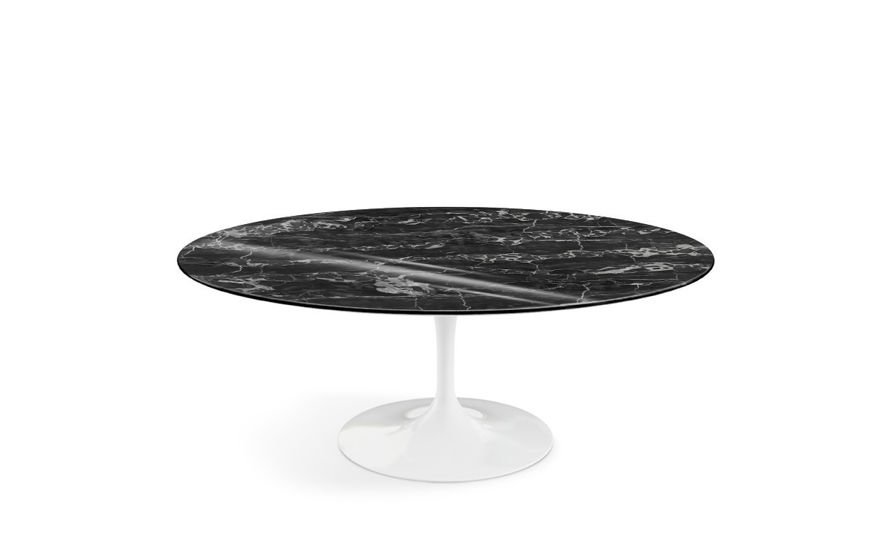 saarinen coffee table portoro marble