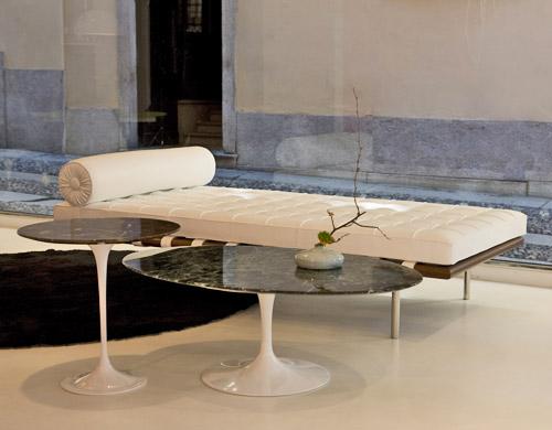 Saarinen Coffee Table Verdi Alpi Green Marble