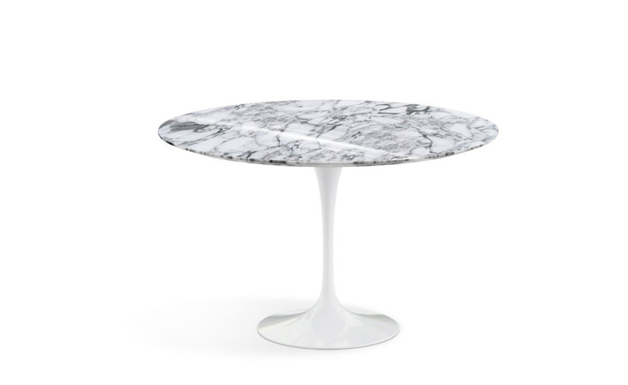 Saarinen dining table arabescato marble - Table ronde pied tulipe ...