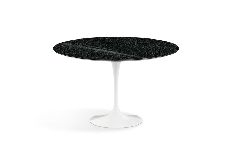 saarinen dining table black granite