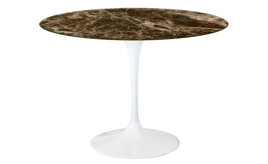 saarinen dining table emperador dark marble