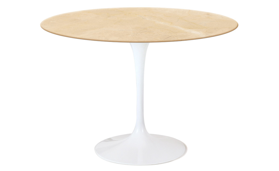 saarinen dining table empire beige marble
