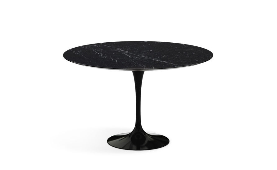 saarinen dining table nero marquina marble