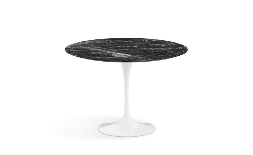 saarinen dining table portoro marble