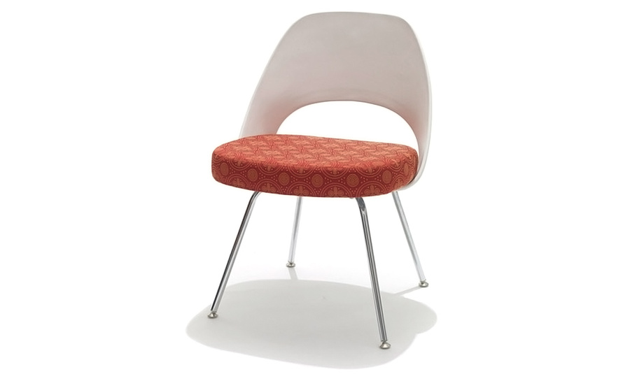 saarinen plastic back side chair