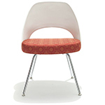 saarinen plastic back side chair with tubular legs  -