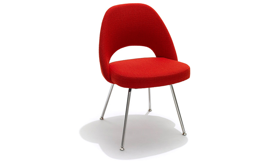 Saarinen Executive Side Chair With Metal Legs - hivemodern.com