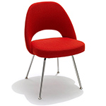 saarinen executive side chair with metal legs  -