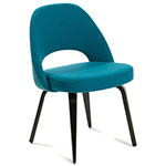saarinen executive side chair with wood legs  -