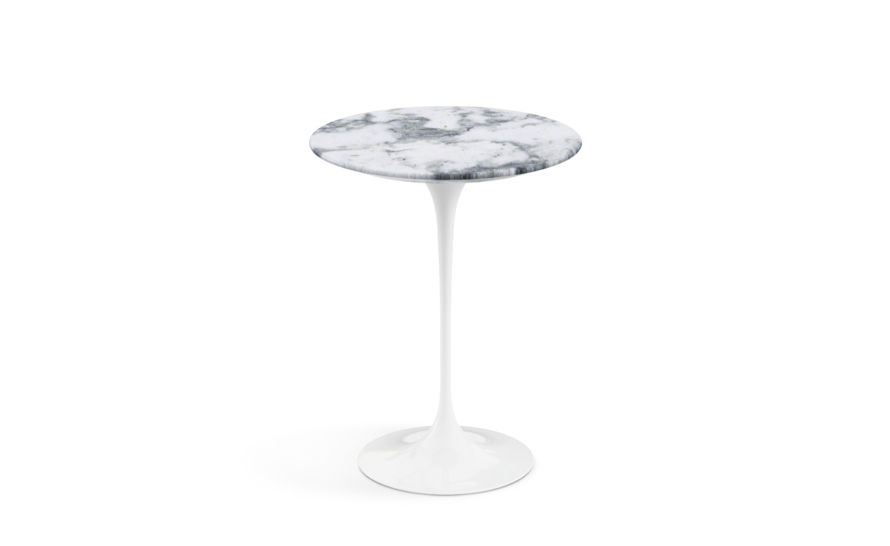 saarinen side table arabescato marble