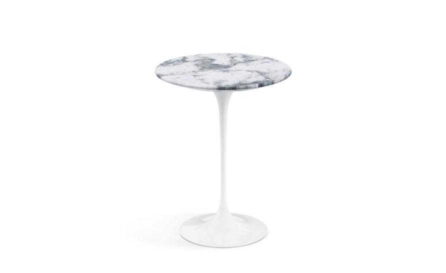 saarinen side table arabescato marble