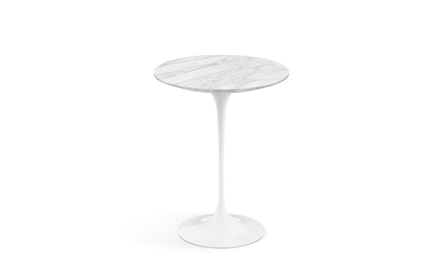 saarinen side table carrara marble