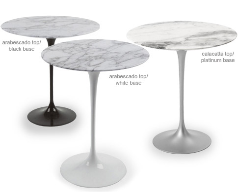 Bon Saarinen Side Table Carrara Marble