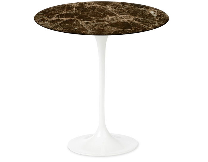 saarinen side table emperador dark marble