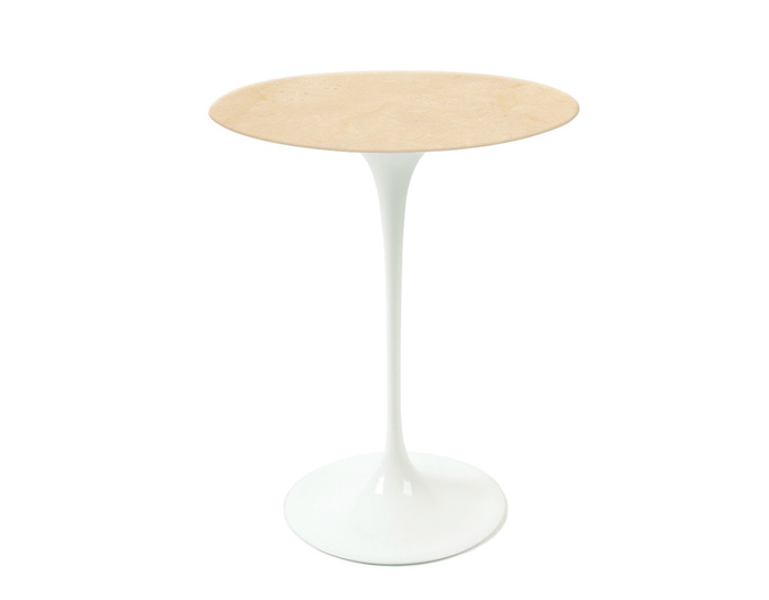 saarinen side table empire beige marble