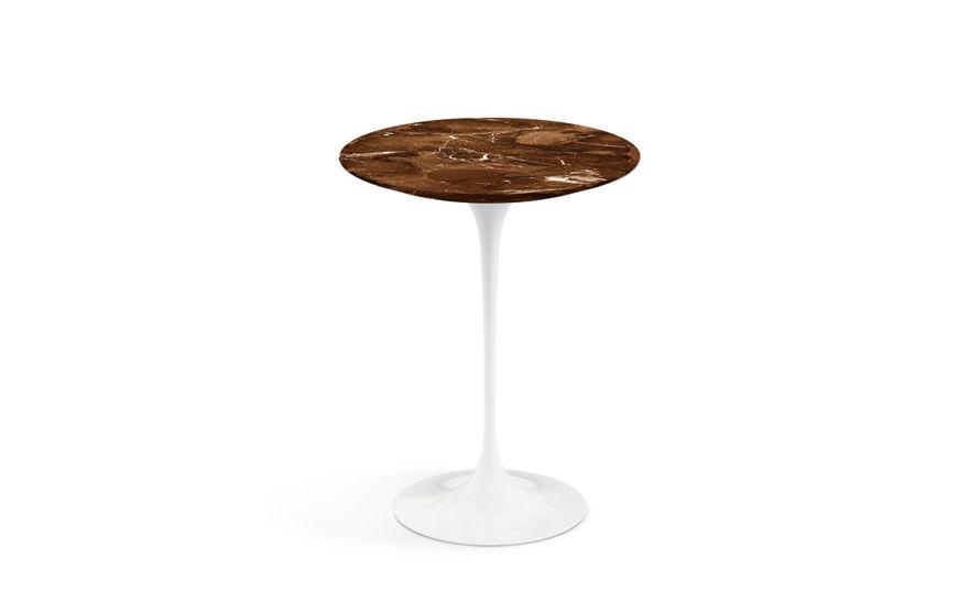 saarinen side table espresso marble