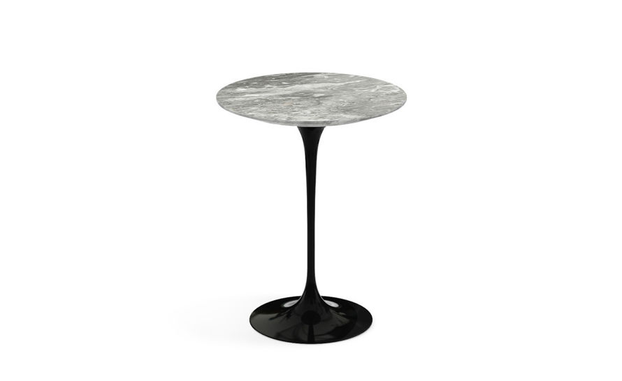 saarinen side table grey marble